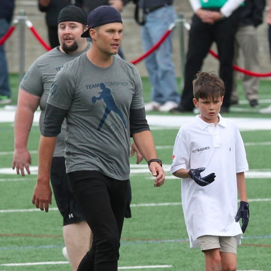 Tom Brady and Son Jack at Best Buddies Charity Match 2017