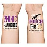 MC Hammered Bachelorette Temporary Tattoos