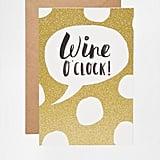 Wine O'Clock Card ($3, originally $5)