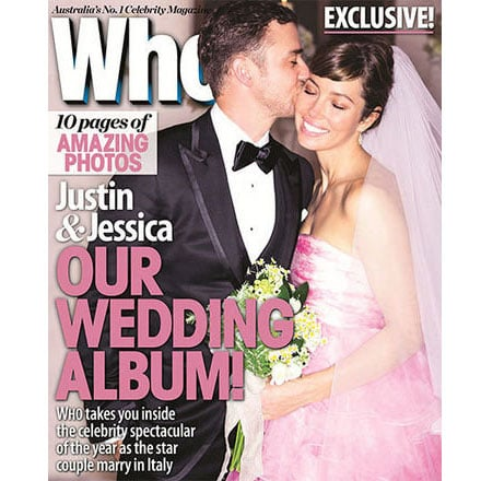 See Jessica Biel's Pink Giambattista Valli Wedding Dress!