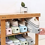Random Color Double Layer Shoe Storage Rack