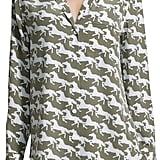Equipment Keira Silk Horse-Print Blouse ($139)