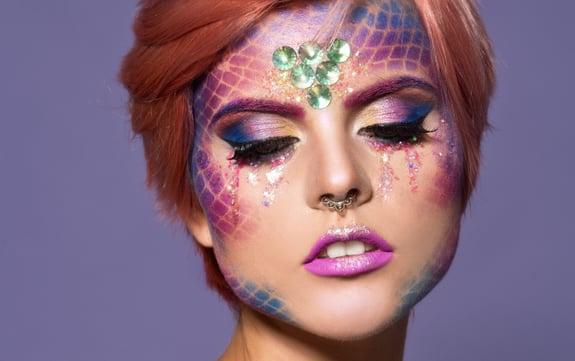 Beautiful Creative Fashion Makeup. Dryad. Mermaid. Halloween.; Shutterstock ID 1209519646; Job: -