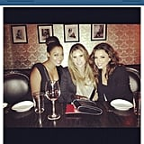 La La Anthony met up with Eva Longoria for dinner. Source: Instagram user lala