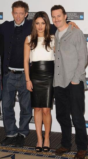 Mila Kunis, Vincent Cassel and Darren Aronofsky at Black Swan Press Conference at London Film Festival