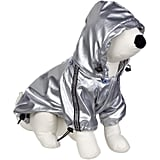 Let your pup get futuristic in a Royal Animals silver raincoat ($27). The jacket cinches at the hood, legs, and back for extra rain protection.