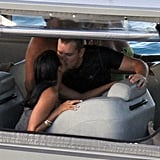 Matt and Luciana Damon kissed during a January vacation to St. Barts.
