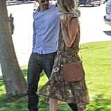 Kate Bosworth and Michael Polish gave each other a sweet glance as they spent the day in Beverly Hills.