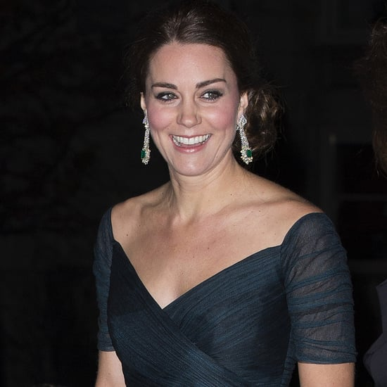 Kate Middleton Pregnant Wearing Jenny Packham Dress at Met