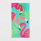 Flamingo Placement Beach Towel
