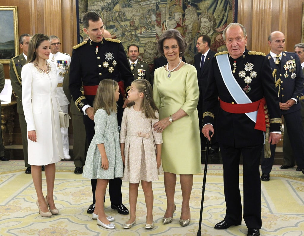 She and her husband came to power because her father-in-law King Juan Carlos fell from favor in the eyes of the Spanish people. One of the factors was the revelation that King Juan Carlos had taken a wildly expensive elephant-hunting trip with a female companion when the country was going through a recession, and it only came to light when he broke a hip while he was away. In 1996, at the age of 24 she lived in Mexico and became a muse to the Cuban artist Waldo Saavedra, who painted her, used her image to illustrate his poetry, and put her on his album cover. He revealed recently that he had been in love with her, but she dated his bandmate Fernando Olvera. Her younger sister, Erika, sadly committed suicide at the age of 31 in 2007, when Letizia was seven months pregnant with Sofía. She's a dancing queen — she stays in shape with Zumba workouts and running. She focuses her philanthropic work on education, innovation, rare diseases, and nutrition.