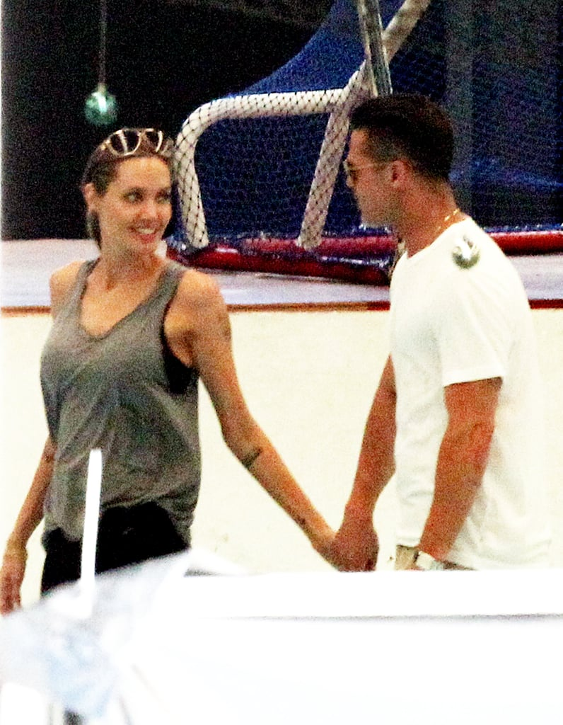 The couple hit the ice together in Queensland, Australia in December 2013.