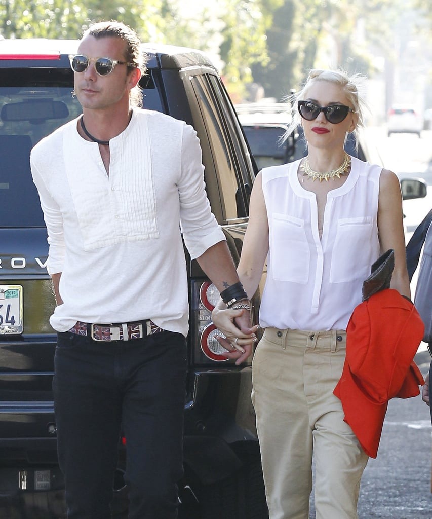 Gwen has not one but two cat-eye sunglasses. While on a date with husband Gavin Rossdale in LA, she sported these Christian Dior cat-eye sunglasses ($295) with her A.L.C. top and khaki pants.