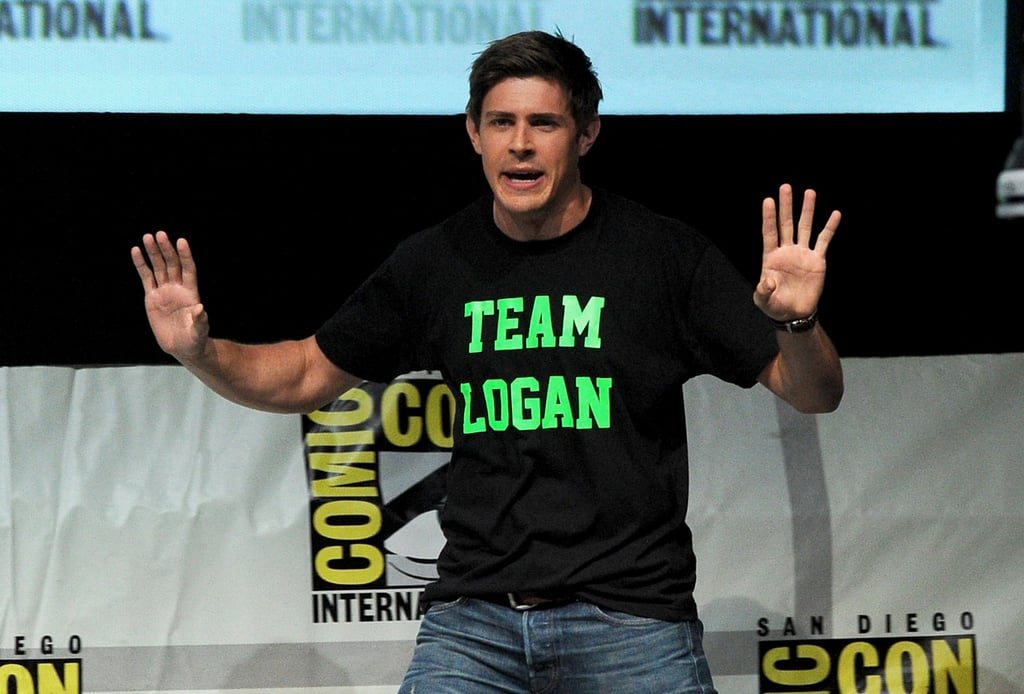 Chris Lowell wore a silly t-shirt to the Veronica Mars Q&A on Friday.