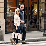 The couple walked around the streets of Paris during a July 2011 trip.