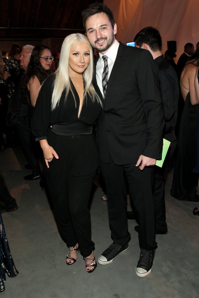 Pictured: Christina Aguilera and Matthew Rutler