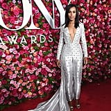 Kerry Washington Silver Versace Jumpsuit Tony Awards 2018
