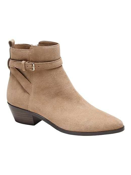 Banana Republic Suede Buckle Ankle Boot