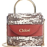 Chloé Aby Lock Lizard Embossed Leather Shoulder Bag
