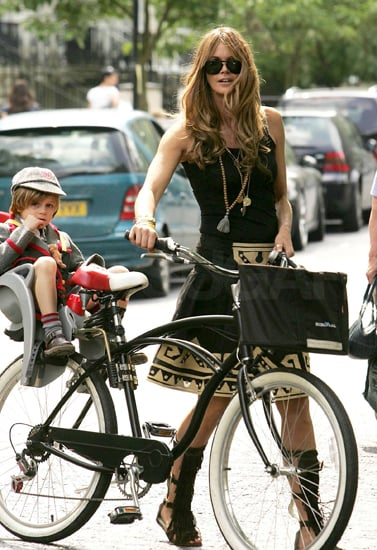 Elle Macpherson Picks Son Up at School