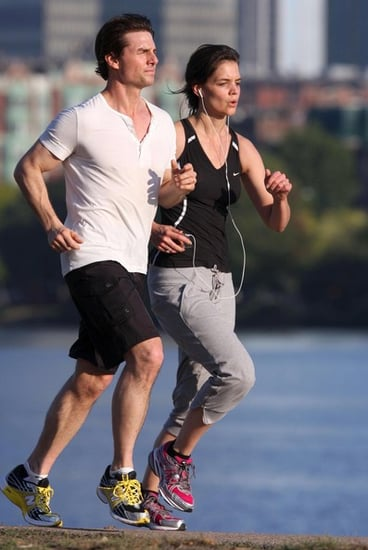 Katie Holmes and Tom Cruise out for a jog in Boston
