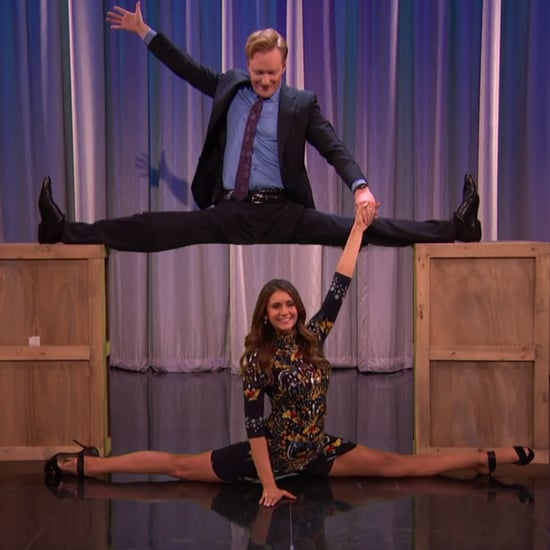 Nina Dobrev and Conan O'Brien Doing the Splits Together Is Oddly Amazing