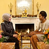 Meeting With Ermine Erdogan in the Yellow Oval Room of the White House
