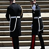 William and Harry Arriving at Windsor Castle, 2018