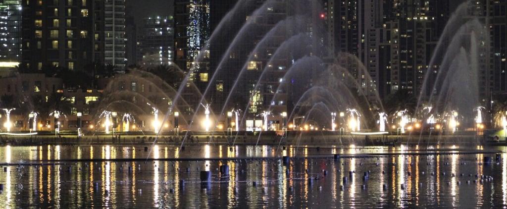 إيقاف نافورة دبي وعروض الليزر 2018