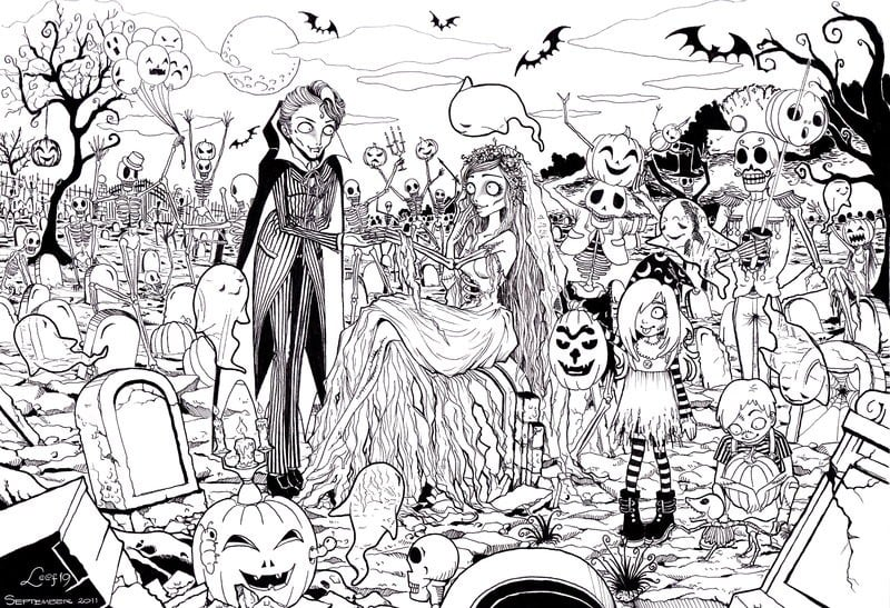 FREE Halloween Coloring Pages for Adults & Kids - Happiness is ... | 547x800