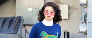 Selena Gomez's Dinosaur Sweater Is Giving Us Barney & Friends Flashbacks