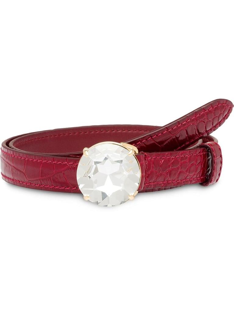 Miu Miu Embellished Buckle Belt
