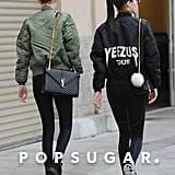 Kendall and Gigi coordinated their looks, including their matching jackets and Saint Laurent shoulder bags.