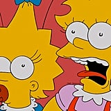 Maggie and Lisa Simpson From The Simpsons