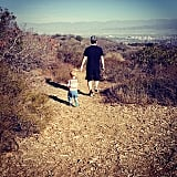 Luca Comrie went for a hike with his dad, Mike. Source: Instagram user hilaryduff