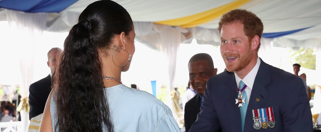Prince Harry Finally Meets Rihanna, Makes the Exact Face You'd Expect Him To