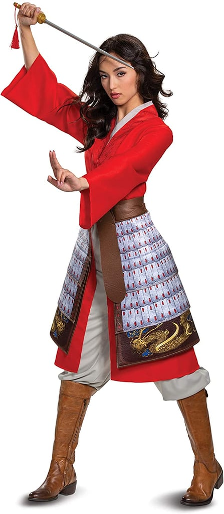 Mulan Women's Deluxe Hero Red Costume