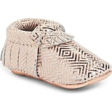 Freshly Picked Infant Girl's Metallic Leather Moccasins
