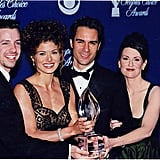 Sean Hayes, Debra Messing, Eric McCormack, and Megan Mullally; 1999 People's Choice Awards