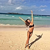 Gisele Bündchen frolicked on the beach in a sexy two-piece. Source: Instagram user giseleofficial