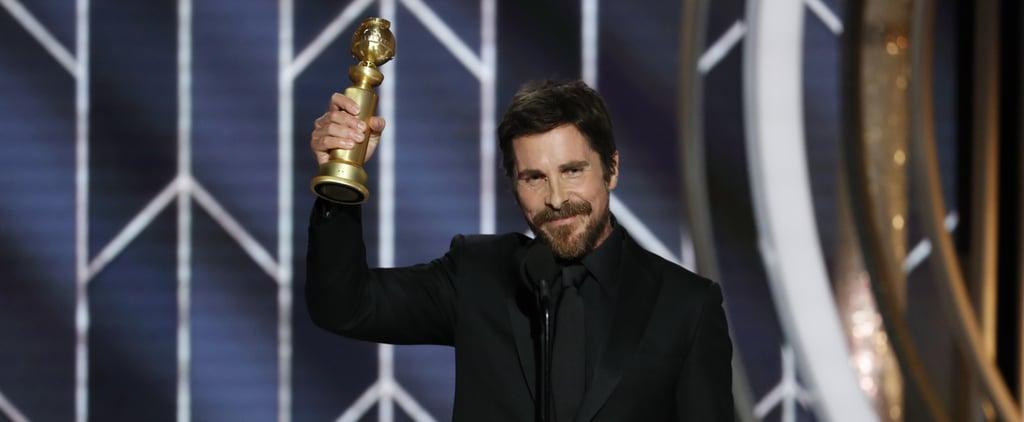 Christian Bale Kids' Names in Golden Globe Acceptance Speech