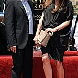 Victoria in a gathered maternity dress at a Hollywood Walk of Fame ceremony in 2011.