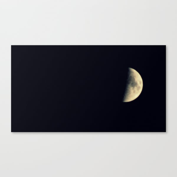 Moon On Stretched Canvas