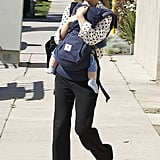 Natalie Portman left a synagogue with Aleph Millepied.