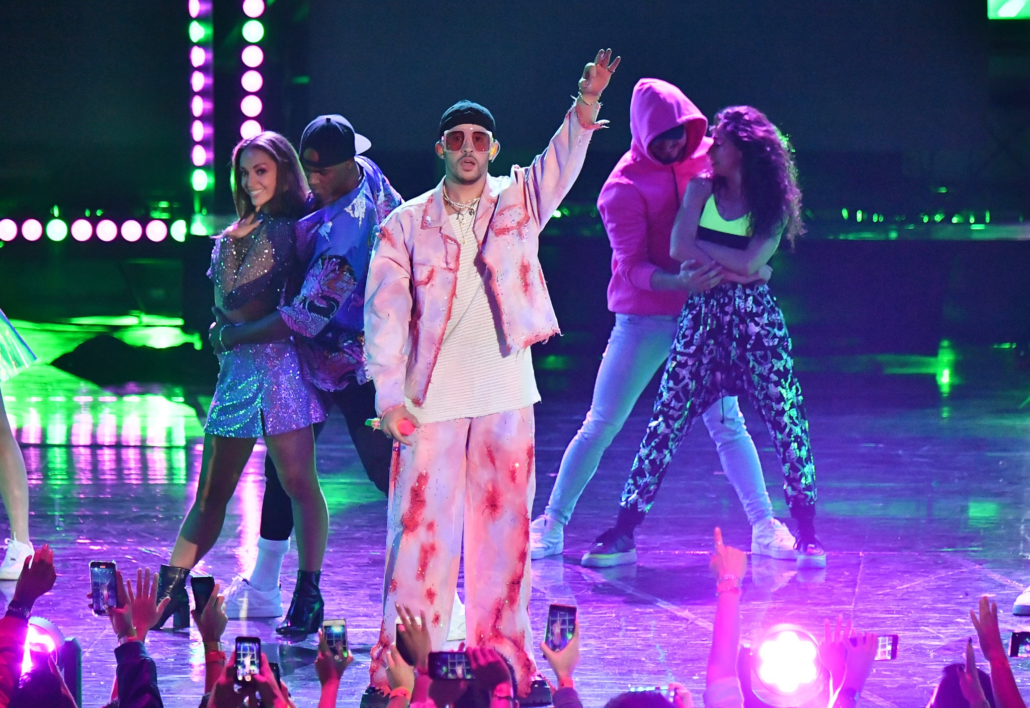 MEXICO CITY, MEXICO - MARCH 05: Bad Bunny performs onstage during the 2020 Spotify Awards at the Auditorio Nacional on March 05, 2020 in Mexico City, Mexico. (Photo by Emma McIntyre/Getty Images for Spotify)