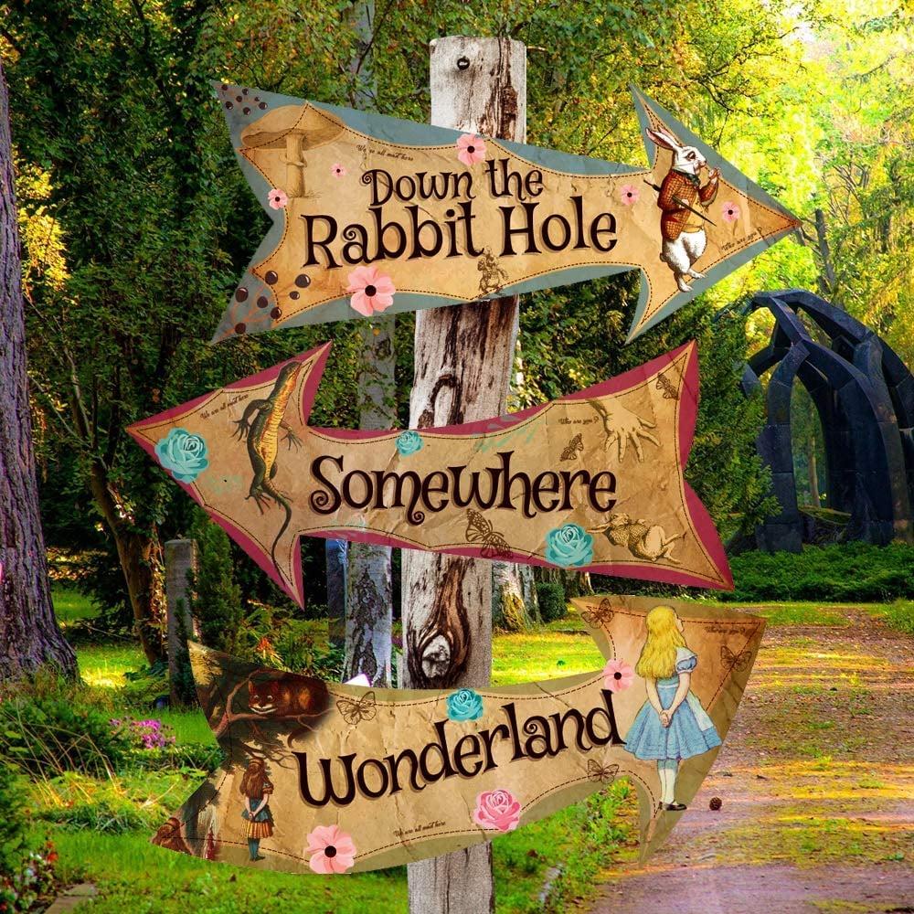 Alice in Wonderland Party Vintage Style Arrow Signs