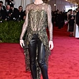 Hilary Rhoda wore Wes Gordon at the Met Gala. Source: Joe Schildhorn/BFAnyc.com