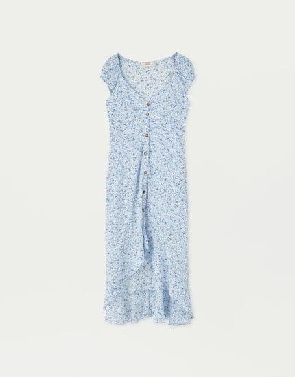 Pull&Bear Buttoned Midi Dress