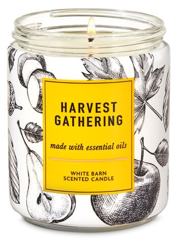 Bath & Body Works Harvest Gathering Single Wick Candle