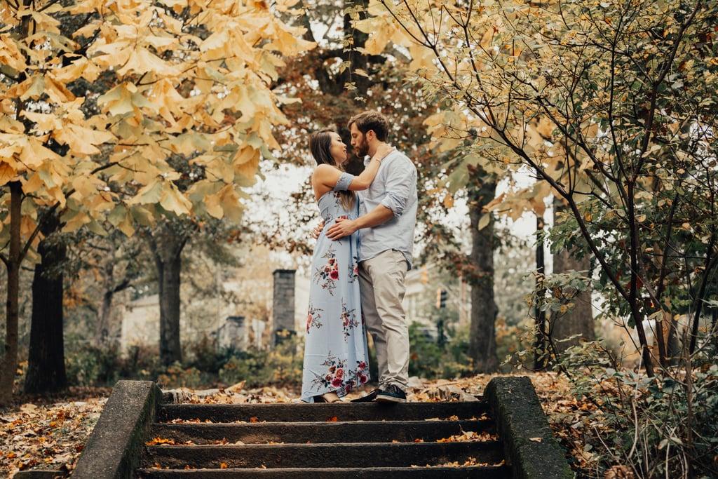 Fall Leaves Engagement Shoot